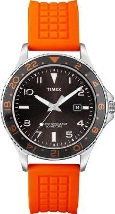 Men s Wrist Watches - Timex Mens T2P031KW Ameritus SilverTone Watch with  Orange Band    Read 24b888419c1