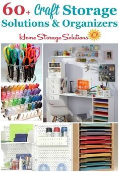 Over 60 craft storage solutions and organizers, for many types of crafts and hobbies, to get your supplies, tools, and equipment organized and ready for you to use and enjoy (referral link) Craft Storage Solutions, Home Organization Hacks, Organizing Your Home, Organizing Tips, Organising, Playroom Storage, Diy Storage, Storage Organizers, Creative Storage