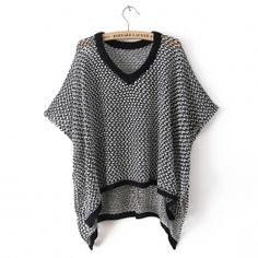 Ladies cardigan sweater, stylish V-neck