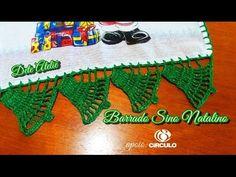Barrado Pano de Prato Sininho em Crochê - YouTube