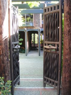 The Sam Maloof House tour starts at the front gates of the old house, which are awesome on their own.