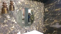 """RAK Ceramic show us what they mean for """"Opulence"""", the name of the new wall tile collection.  Come to see it at pav. 14.  #MCaroundCersaie #Cersaie"""