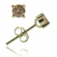 18K Gold over Sterling Silver Champagne CZ 4mm Round Stud Earrings SilverSpeck.com. $4.99. Weight per earring: 0.5 grams. Diameter: 4 millimeters. Save 80% Off! 18k Rose Gold, 18k Gold, Champagne, Stud Earrings, Sterling Silver, Stone, Color, Jewelry, Plate