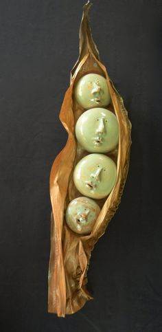 Peas in a Pod Ceramic Sculpture by Uturn on Etsy