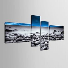 Stretched Canvas Art Beach Scenery Set of 4 – AUD $ 185.89