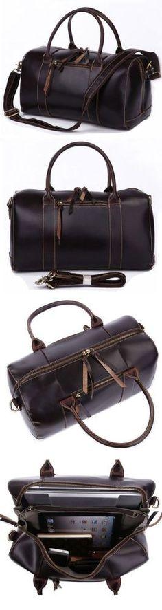 Handmade Leather Travel Bag / Tote / Messenger Bag / Overnight Bag