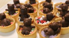 i made tart Bath Bear Chocolates! ingredients tartcups time i use milk cho. Baby Mold, Chocolate Decorations, Japanese Sweets, Chocolate Truffles, Mini Cupcakes, Cake Pops, Fudge, Tart, Sweet Treats