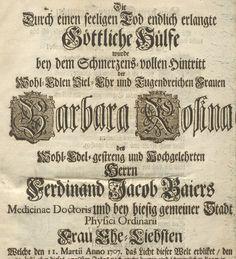 Ein Ausschnitt aus einer digitalisierten Gelegenheitsschrift aus der Sammlung des Nürnberger Gelehrten Christoph Jakob Trew. Bild: UB Erlangen-Nürnberg