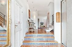 Mexican tiles in modern swedish interior