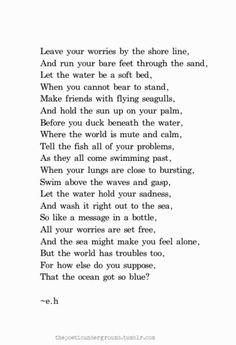 ocean poems tumblr - Google Search
