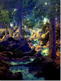 Good Fishing by Maxfield Parrish, 1945