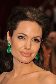 Emerald earrings by Robert Procop. I hate Angelina, but I loved these earrings.