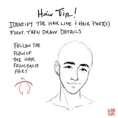 Art Tutorials & References — liongirlart: Hair Tip #1 - When drawing hair,...