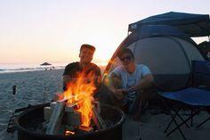 Beach camping ⛺️