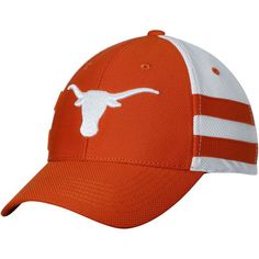 wholesale dealer f68eb 829cc Men s Texas Orange White Texas Longhorns Graham Flex Hat