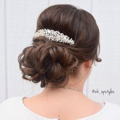 Beautiful wedding hairstyle! #wb_upstyles