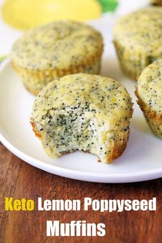 Lemon Poppy Seed Muffins - Keto Recipes - Ideas of Keto Recipes - Healthy lemon poppyseed muffins are lemony moist and delicious. Made with coconut flour and stevia they are gluten free keto low carb and low calorie. Poppy Seed Muffins Healthy, Healthy Muffins, Low Calorie Muffins, Lemon Poppyseed Muffins, Lemon Muffins, Baking Muffins, Sugar Free Muffins, Egg Muffins, Healthy Food Blogs