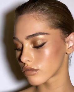 Shimmer Eye Makeup, Hazel Eye Makeup, Makeup Eye Looks, Bridal Makeup Looks, Nude Makeup, Nude Lipstick, Makeup Looks For Green Eyes, Make Up Ideas For Green Eyes, Natural Brown Eye Makeup
