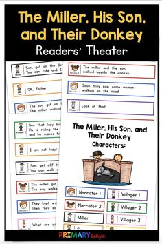 The Miller, His Son, and Their Donkey Readers' Theater Partner Reading, Guided Reading Groups, Reading Fluency, First Grade Reading, First Grade Classroom, First Grade Math, Art Lessons Elementary, Elementary Schools, Elementary Teaching