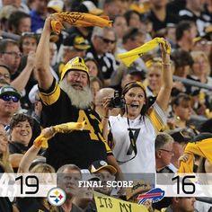 #SteelersNation The Pittsburgh Steelers  · August 16:     FINAL SCORE: Steelers 19, Bills 16  #HereWeGo
