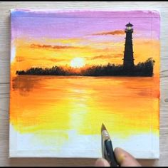 ideas on canvas aesthetic videos 🎨Easy Acrylic Painting Canvas Painting Projects, Diy Canvas Art, Acrylic Painting Canvas, Acrylic Art, Painting Lessons, Painting Art, Aesthetic Painting, Artist Aesthetic, Aesthetic Drawing
