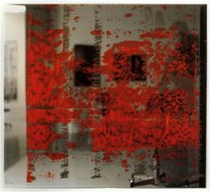 Some of Richter's early Overpainted Photographs are self-portraits. By overpainting himself and almost making himself incognisable, he enlarged the term of the self-portrait.