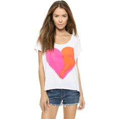 Surf Bazaar Heart Beach Tee ($64) ❤ liked on Polyvore