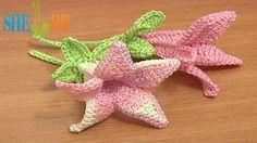Canterbury Bell Flower Crochet Pattern Tutorial 71 part 1 of 2 Free Croc...