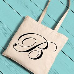 Personalized Initial Tote (6 colors)