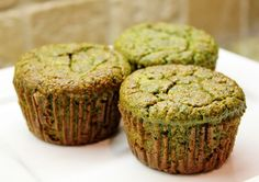 Picture of Banana Kale Muffins (gluten free) - use 1/2 to 3/4 cup coconut flour for lower carbs.  Add small increments of additional coconut flour to get the right consistency.  ~~K~~