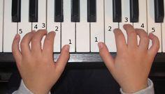 LUYỆN NGÓN TRÊN PHÍM ĐÀN PIANO
