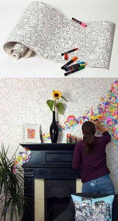 Papel de parede para colorir  zum Anmalen