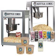 Learn how to make great tasting, high selling Kettle Corn! Kettle Corn Machine, Gold Medal Popcorn, Popcorn Supplies, Kettle Corn Popcorn, Popcorn Seasoning, Corn Pops, Gourmet Popcorn, Peanut Brittle, Popcorn Maker
