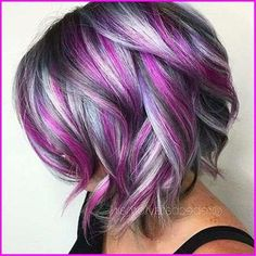 Hair Color Purple, Hair Color And Cut, Cool Hair Color, Blonde Color, Purple Pixie, Wild Hair Colors, Blonde Hair With Purple Highlights, Pixie Hair Color, Unicorn Hair Color