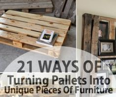 DIY pallet furniture using wood pallets that had been around for decades as mechanisms for shipping.Pallet furniture ideas from crafters around the World! Pallet Crafts, Diy Pallet Projects, Home Projects, Pallet Ideas, Do It Yourself Organization, Diy Pallet Furniture, Furniture Projects, Pallet Sofa, Unique Furniture