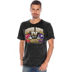 NFL Kansas City Chiefs G-III Sports by Carl Banks On The Fifty Head to Head Super Bowl IV Championship Helmet Tri-Blend T-Shirt - Black