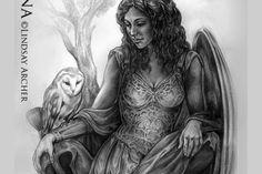 Athena, Goddess of Wisdom - mythical artwork by artist Lindsay Archer Greek Goddess Tattoo, Greek Mythology Tattoos, Greek And Roman Mythology, Greek Gods And Goddesses, Greek Tattoo, Minerva Goddess, Athena Goddess Of Wisdom, Artemis Goddess, Athena Tattoo