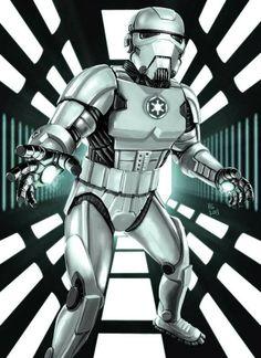 El desván del Freak: Iron Man a lo Storm Trooper.