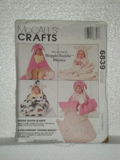 McCall's Crafts Sewing Pattern 6839 Huggie Buddie Blankie. It's a COW SNUGGIE!! Must make...