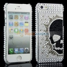 White Bling with Black Half Faced Ghost Design Crystal Back Case Cover iPhone 5 My Friend, Friends, Bling, Iphone, Crystals, Cover, Design, Amigos, Jewel