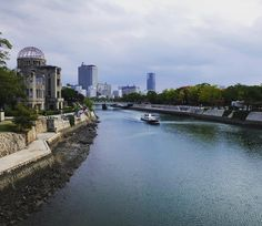 #Hiroshima 70 years after the A-bomb hit. #hiroshimapeacepark #abombdome #japan #広島 #原爆ドーム #travel #peace #instatravel #instagramjapan #photooftheday #river