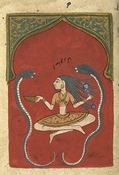 Asavari Ragini. 17th C. musical treatise. images poss. 16th C. Deccani. India