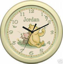 Classic Winnie the Pooh Piglet Sage Nursery Wall Clock