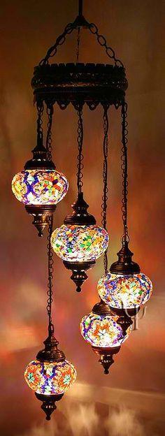 Mosaic Chandelier  #HomeandGarden