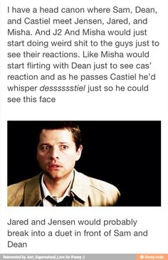 Lmao head canon SO SO SOOOO accepted! :D « agree 100% / PLEASE MAKE THIS REAL, IT WOULD BE AN AMAZING EPISODE.