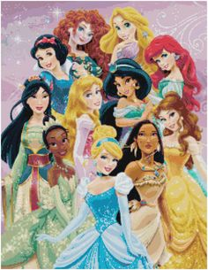 Cross Stitch Pattern DISNEY PRINCESS 12 by SUNSHINEYDAY0630