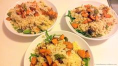 cauliflower rice with roasted sweet potatoes a healthy dinner recipe for clean eating