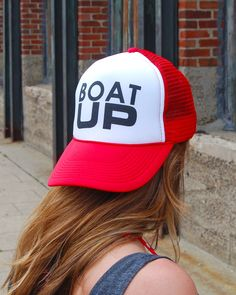81b1f666d638a Boat UP red trucker hat  boating  boatup  goboating  kcco  lakelife