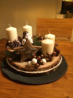 Weihnachten Weihnachten - New Ideas Rose Gold Christmas Decorations, Christmas Candles, Christmas Centerpieces, Xmas Decorations, Christmas Wreaths, Christmas Crafts, Advent Wreath, Rustic Crafts, Craft Sale