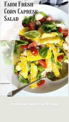 Caprese Salad, Cobb Salad, Different Salads, Easy Salads, Salad Dressing, Lettuce, Mozzarella, Italian Recipes, Basil
